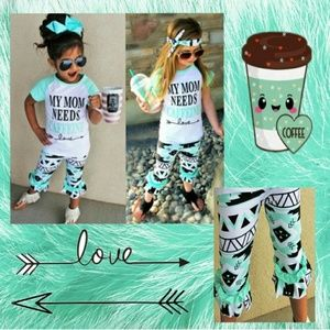 Other - My mom needs coffee 3 pc outfit